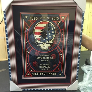 Long Island Picture Frame Grateful Dead Poster