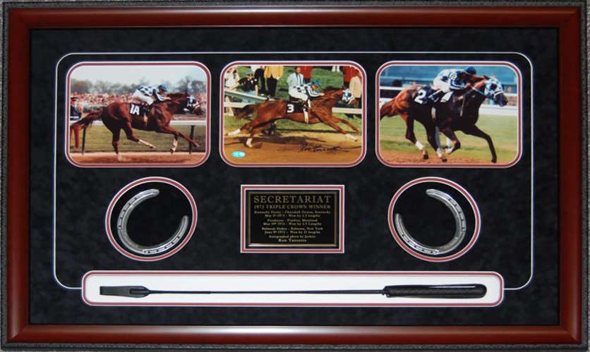 Ron Turcotte Autographed Secreteriat Display